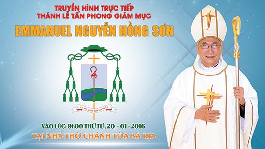 Thánh lễ tấn phong Giám mục Emmanuel Nguyễn Hồng Sơn