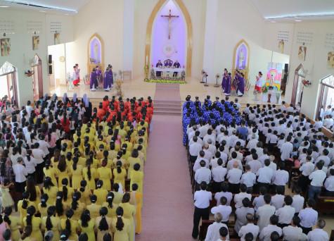 Giáo xứ Phước Bình: Chầu Thánh Thể thay Giáo phận