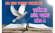 BẢN VĂN CÁC BÀI ĐỌC HẰNG NGÀY - TUẦN III MÙA VỌNG NĂM A