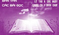 BẢN VĂN CÁC BÀI ĐỌC HẰNG NGÀY - LỄ TRO VÀ CÁC NGÀY TRƯỚC CHÚA NHẬT I MÙA CHAY
