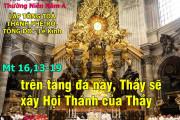 22.2.2017 – Thứ tư: Lập Tông Toà Thánh Phêrô