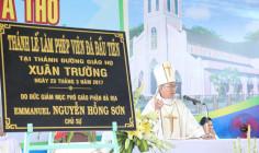 Giáo họ Biệt lập Xuân Trường: Nghi thức và Thánh lễ làm phép viên đá đầu tiên xây dựng thánh đường