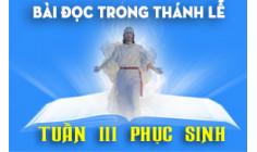 BẢN VĂN BÀI ĐỌC TUẦN III PHỤC SINH  NĂM PHỤNG VỤ 2016 – 2017