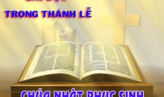 BẢN VĂN BÀI ĐỌC CHÚA NHẬT PHỤC SINH - NĂM PHỤNG VỤ 2016 – 2017