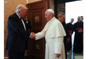 Đức giáo hoàng Phanxicô tiếp kiến Tổng thống Hoa Kỳ Donald Trump