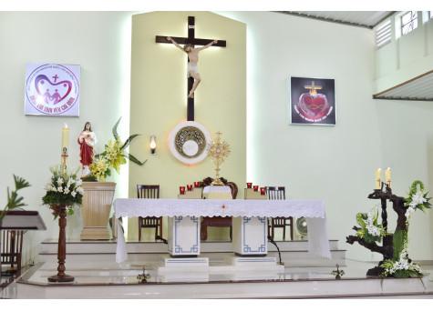 Giáo xứ Đồng Tiến: Chầu Thánh Thể thay Giáo phận