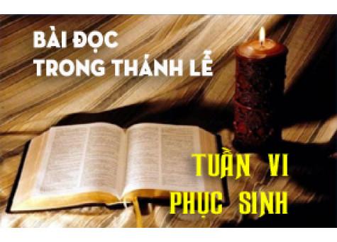 BẢN VĂN BÀI ĐỌC TUẦN VI PHỤC SINH  NĂM PHỤNG VỤ 2016 – 2017