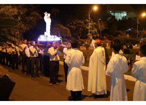 Đền thánh Đức Mẹ Bãi Dâu: Thánh lễ khai mạc ngày hành hương và Canh thức tôn vinh Đức Mẹ kỷ niệm 100 năm Đức Mẹ Fatima