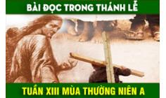 BẢN VĂN BÀI ĐỌC TUẦN XIII THƯỜNG NIÊN NĂM A - NĂM PHỤNG VỤ 2016 – 2017