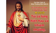 23.6.2017 – Thứ sáu: Thánh Tâm Chúa Giêsu