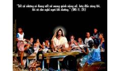 Cầu nguyện trước Thánh Thể- Ngày 09.7.2017 – Chúa nhật XIV Thường niên – Mt 11,25-30