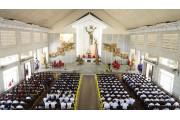 Giáo xứ Láng Cát: Đức Cha Emmanuel ban Bí Tích Thêm sức cho 140 em thiếu nhi và làm phép 14 chặng đàng thánh giá