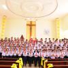 Giáo xứ Hòa Lâm: Đức Cha Emmanuel làm phép nhà nguyện Tân Lâm và ban Bí Tích Thêm Sức cho 147 em thiếu nhi trong Giáo xứ