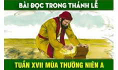BẢN VĂN BÀI ĐỌC TUẦN XVII THƯỜNG NIÊN NĂM A  NĂM PHỤNG VỤ 2016 – 2017