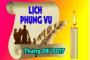Lịch Phụng vụ từ ngày 21.08.2017 đến ngày 28.8.2017