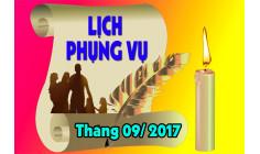 Lịch Phụng vụ từ ngày 18.9.2017 đến ngày 24.9.2017