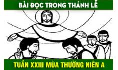 BẢN VĂN BÀI ĐỌC TUẦN XXIII THƯỜNG NIÊN NĂM A - NĂM PHỤNG VỤ 2016 – 2017
