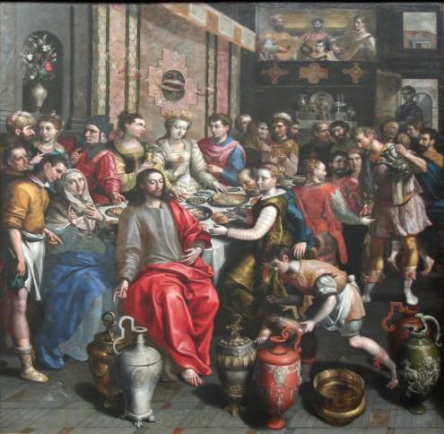 Kathedraal - Bruiloft van Cana - Maarten de Vos (1595 - 97)