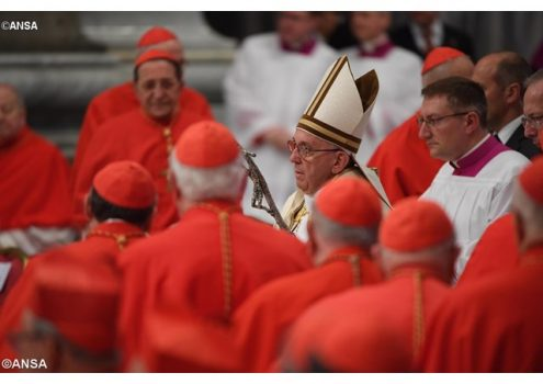 Đức Thánh Cha chủ tọa công nghị phong 5 Hồng Y mới