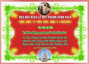 CHÚA NHẬT VI PHỤC SINH, NĂM B (10.05.2015) - Câu Giáo lý 232: