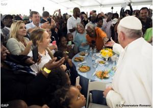 Đức Thánh Cha gặp gỡ 200 người vô gia cư