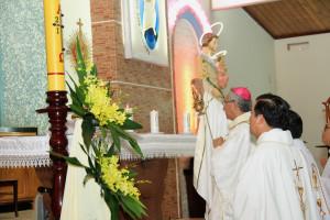 Giáo xứ Phước Tân: Chầu Thánh Thể thay Giáo phận