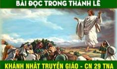 BẢN VĂN BÀI ĐỌC TUẦN XXIX THƯỜNG NIÊN NĂM A - KHÁNH NHẬT TRUYỀN GIÁO