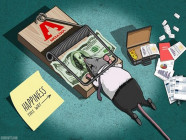 Bộ tranh 'Sức mạnh của đồng tiền' khiến người xem phải suy ngẫm