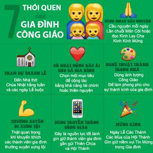 7 thói quen tốt của gia đình Công giáo