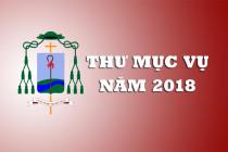 THƯ ĐỊNH HƯỚNG MỤC VỤ NĂM 2018