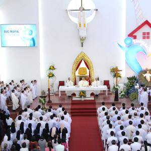 Đền Thánh Đức Mẹ Bãi Dâu: Thánh lễ mừng kính Mẹ Thiên Chúa- Bổn mạng Giáo phận Bà Rịa