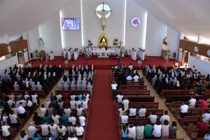 Đền Thánh Đức Mẹ Bãi Dâu: Đức cha Emmanuel dâng lễ kính Đức Mẹ
