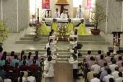 Gx. Láng Cát: Thánh lễ Giao thừa kết thúc năm Đinh Dậu