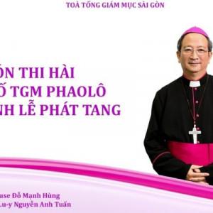 Video: Đón Thi hài Đức cố TGM Phaolô tại sân bay Tân Sơn Nhất và Thánh lễ Phát tang