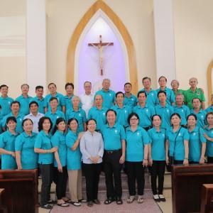 Caritas Hạt Bà Rịa:  Các thành viên tập huấn và trao đổi nghiệp vụ - lần 1/ 2018 tại Giáo xứ Phước Bình