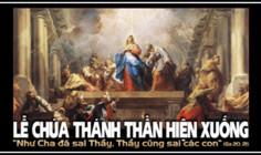 CÁC BÀI SUY NIỆM LỜI CHÚA  LỄ CHÚA THÁNH THẦN HIỆN XUỐNG