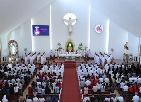 Đền Thánh Đức Mẹ Bãi Dâu: Lễ kính Thánh Tâm Chúa Giêsu