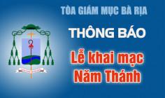 THÔNG BÁO: Thánh lễ khai mạc Năm Thánh tôn vinh các Thánh Tử Đạo Việt Nam