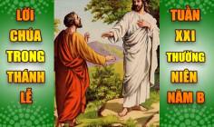 BẢN VĂN BÀI ĐỌC TRONG THÁNH LỄ- TUẦN XXI THƯỜNG NIÊN – NĂM B