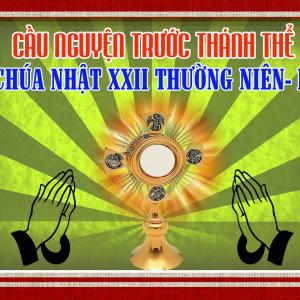 Cầu nguyện trước Thánh Thể- Ngày 02.09.2018 – Chúa nhật XXII Thường niên – Mc 7,1-8.14-15.21-23