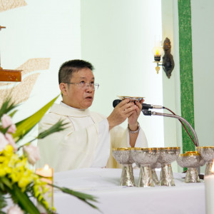 Cha Cố Gioan Phanxicô Nguyễn Gia Thịnh OFM mừng hồng ân Kim khánh Khấn Dòng