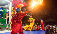Tin ảnh: Gx. Hòa Tân: Thánh lễ và văn nghệ mừng Tết Trung thu