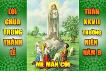 BẢN VĂN BÀI ĐỌC TRONG THÁNH LỄ - TUẦN XXVII THƯỜNG NIÊN – NĂM B