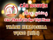 Cầu nguyện theo gương các Thánh Tử đạo Việt Nam: THÁNH HERMOSILLA VỌNG (LIÊM) Giám mục dòng Đaminh