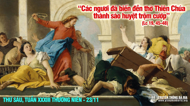 thứ sáu tuần 33 thường niên   Giáo Phận Bà Rịa