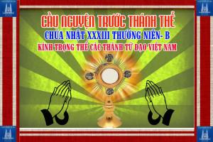 Cầu nguyện trước Thánh Thể- Ngày 18.11.2018 – Lễ các Thánh Tử Đạo Việt Nam – Lc 9,23-26