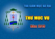 THƯ ĐỊNH HƯỚNG MỤC VỤ NĂM 2019