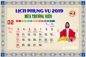 Lịch Phụng vụ từ ngày 17.02.2019 đến 24.02.2019