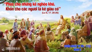 CÁC BÀI SUY NIỆM LỜI CHÚA  CHÚA NHẬT VI THƯỜNG NIÊN- C