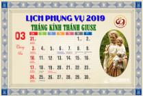 Lịch Phụng vụ từ ngày 17.03.2019 đến 24.03.2019